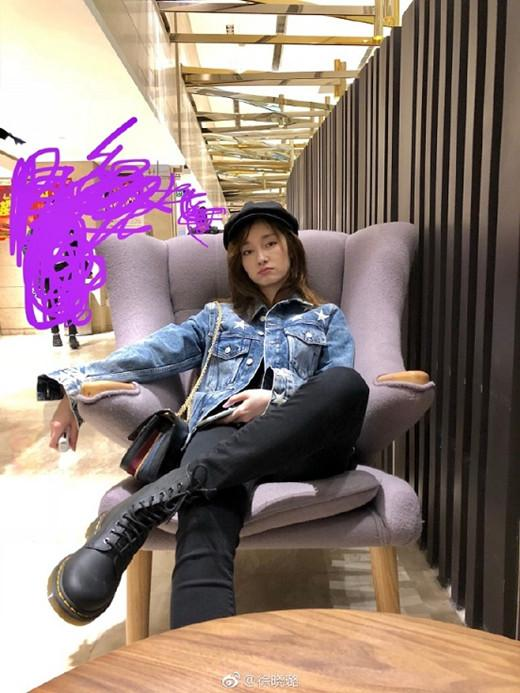 徐晓璐晒酷girl日常网友发现亮点:鞋码服气!