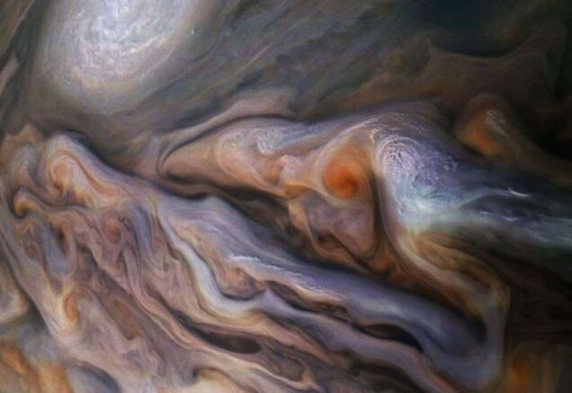 木星漩涡云中拍到