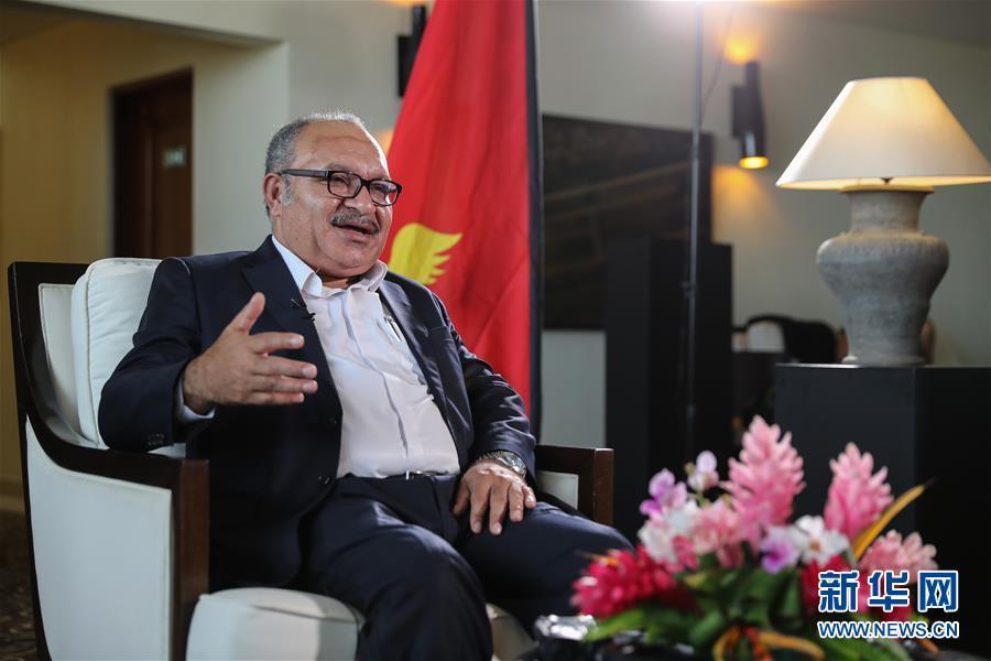 """专访:携手""""一带一路""""合作 共建双赢互利关系——访巴布亚新几内亚总理奥尼尔"""
