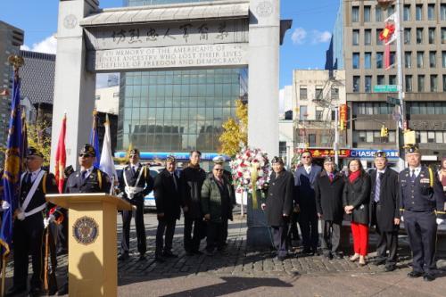 美媒:纽约华埠纪念退伍军人节 华裔老兵忆峥嵘岁月