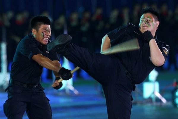 第二届世界警察手枪射击比赛开幕式在广东举行