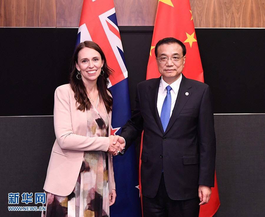 李克强会见新西兰总理阿德恩