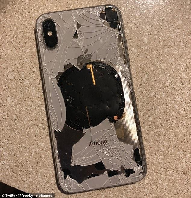 美网友曝光称iPhone X升级后充电机身过热起火