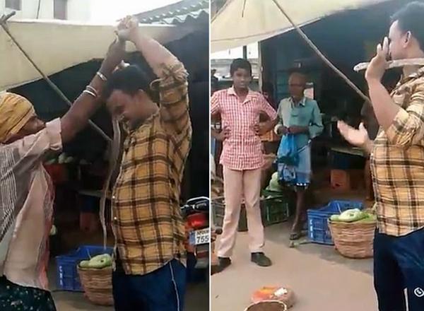 印男子拿眼镜蛇吓人反被咬伤毒发身亡