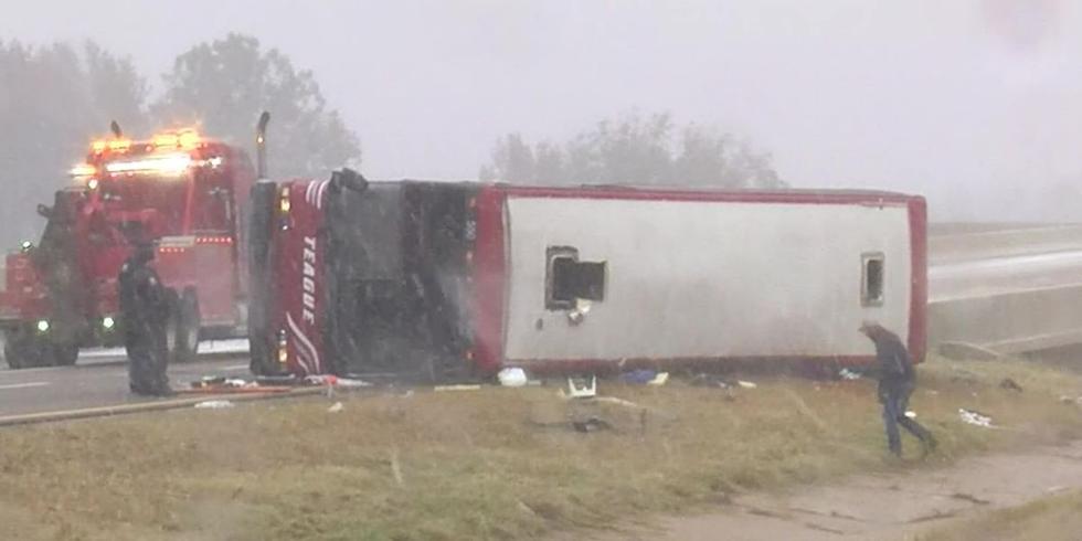 美国密西西比州一旅游大巴倾覆 致2死44伤