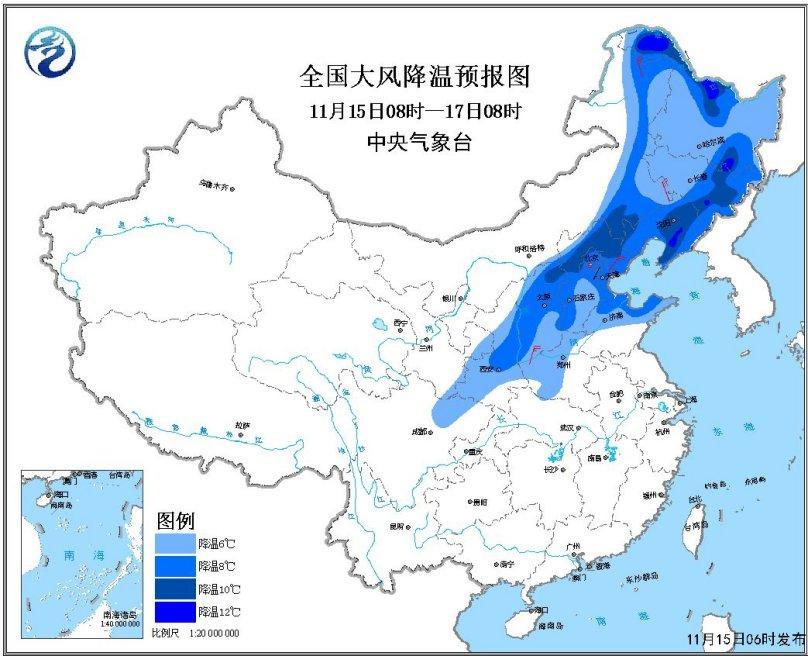 较强冷空气影响北方地区 江南华南连阴雨高原降雪