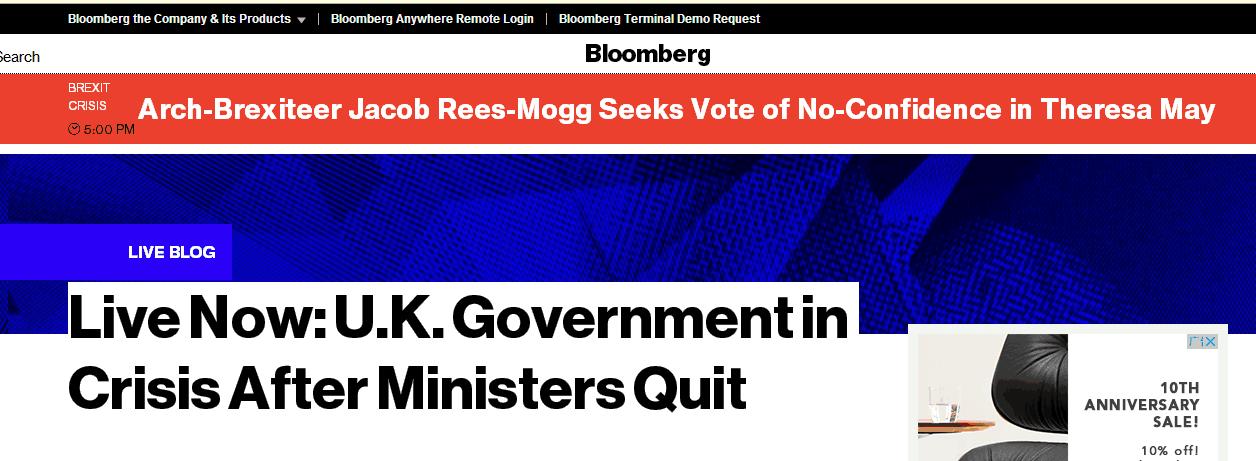"""快讯!保守党脱欧派领袖呼吁对英国首相展开""""不信任""""投票"""