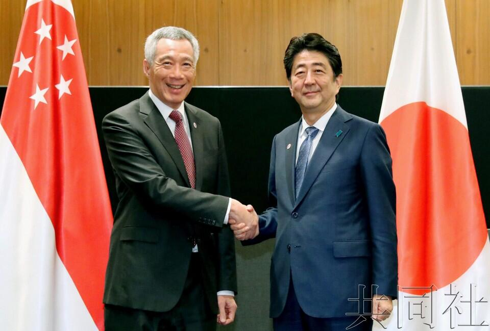 安倍会晤新加坡总理李显龙,将就朝鲜问题紧密合作
