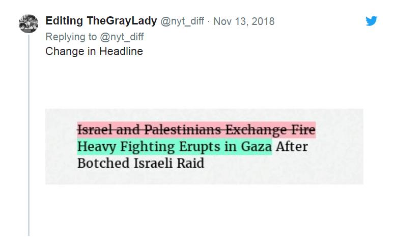 美记者批《纽约时报》迫于以色列压力修改报道 以领事馆较真回应