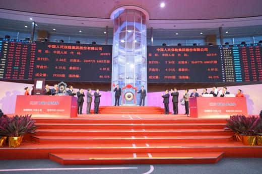 中国人保今日成功登陆A股,开启资本市场新征程
