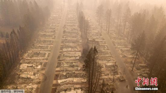 """美国""""坎普""""大火至少造成63人死亡631人失踪"""