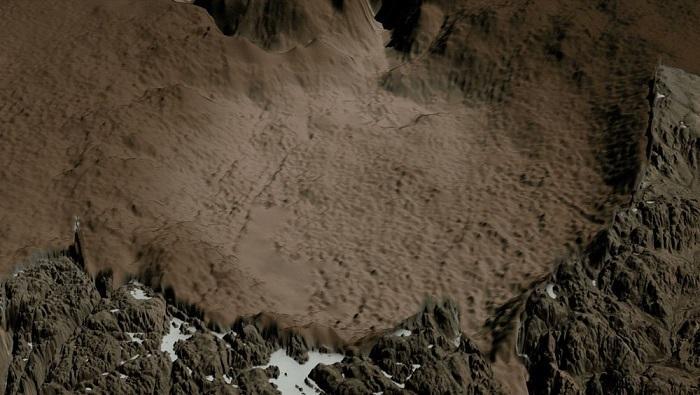 格陵兰冰盖下发现巨型陨坑 面积比巴黎还大
