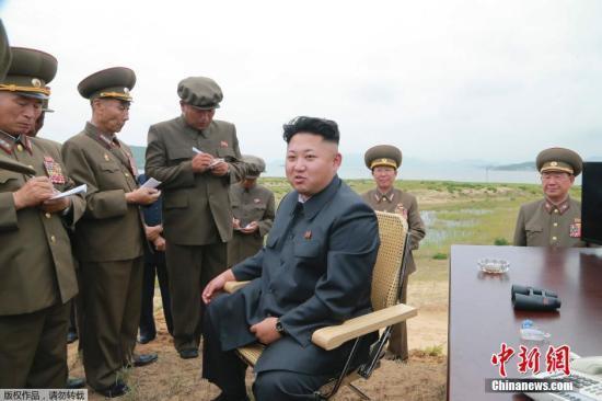 金正恩指导新研发尖端战术武器试验