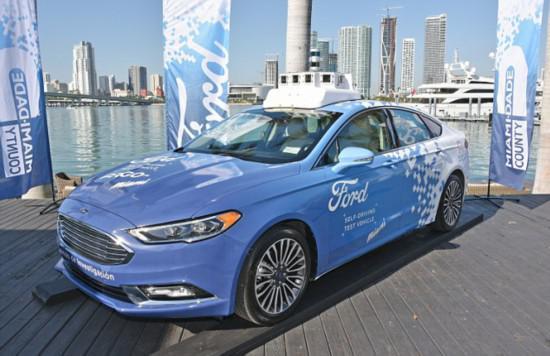福特计划2021年前推出自动驾驶网约车