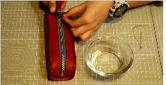 纯手工制作的皮具笔袋