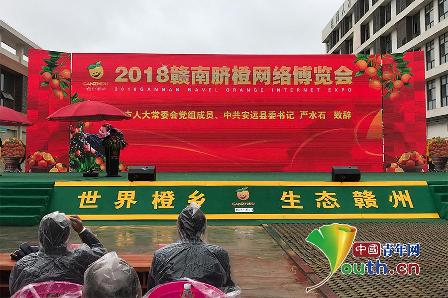 2018赣南脐橙网络博览会在赣州安远县开幕