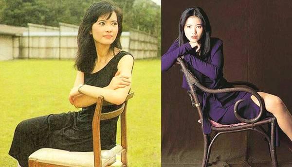 蓝洁瑛写真集:一把椅子一辆汽车,简单道具表达80年代女性美!