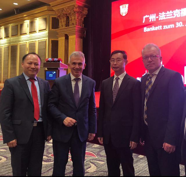法兰克福市长、议长组织史上最强大阵容代表团访华,华裔参议员杨明随行