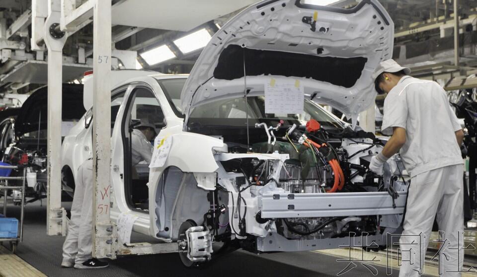 日产展示EV在华生产线 扩大电动化发起攻势