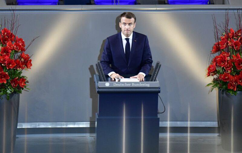 马克龙德国国会演讲 呼吁法德联手重建欧盟