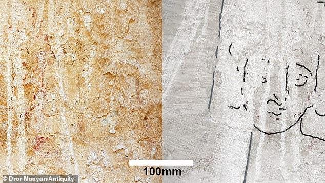 以色列废弃教堂墙上发现1500年前耶稣基督壁画
