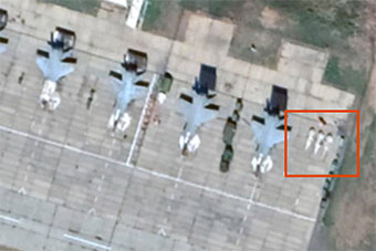 俄网友卫星照片上发现俄最先进匕首导弹部署地点