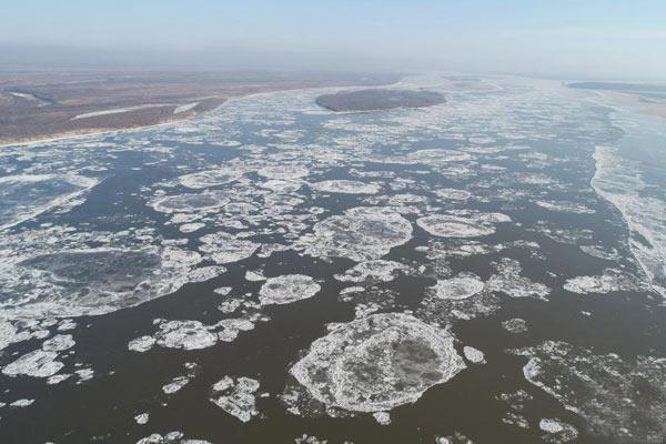 黑龙江流域抚远段进入流冰期