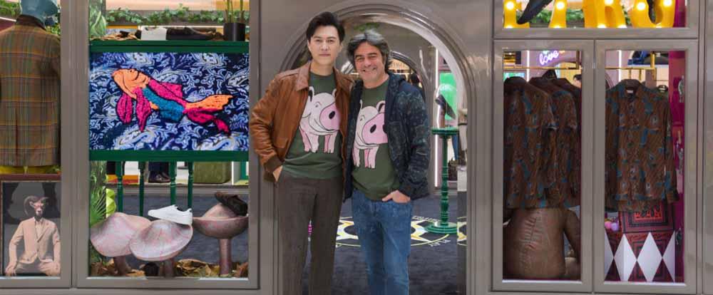 """靳东也爱""""小猪佩奇""""?ETRO发起了""""小猪佩奇""""展?"""