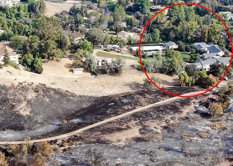 加州山火情势危急 卡戴珊夫妇豪宅岌岌可危