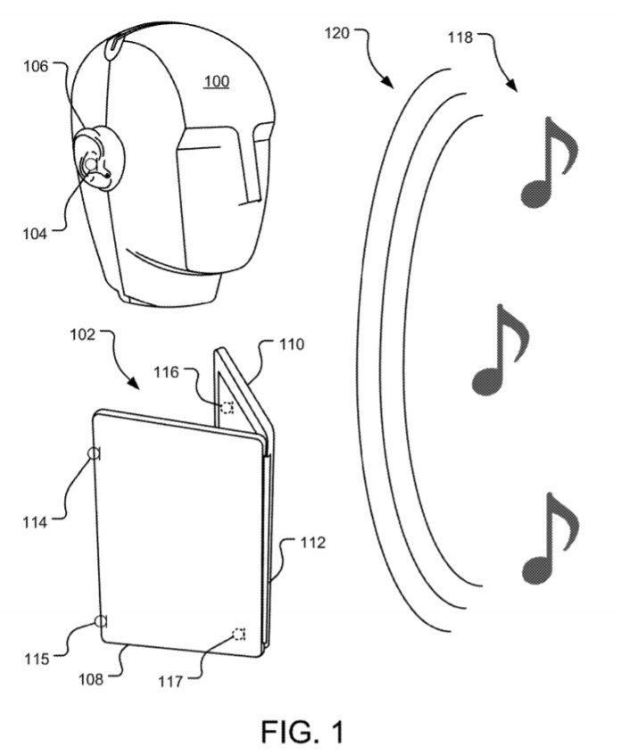 微软打造配备先进音频系统的双屏幕计算设备专利