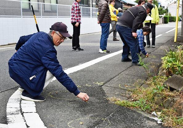 黄粉笔作战!督促养狗人清理狗粪,日本城市有妙招