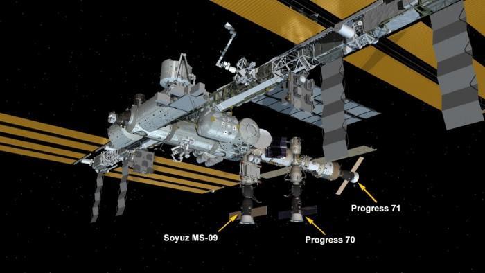 俄罗斯进步补给飞船与国际空间站成功对接