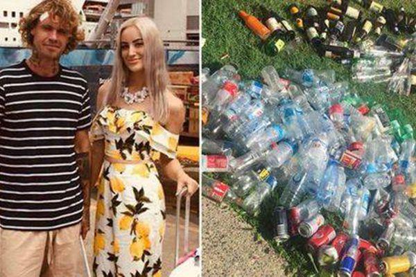 澳大利亚情侣计划捡81万个塑料瓶 筹集40元婚礼钱
