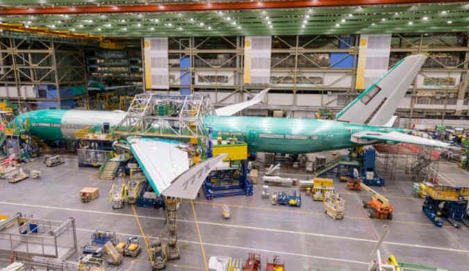 总装成型任务完成 明年就能看到波音777X上天