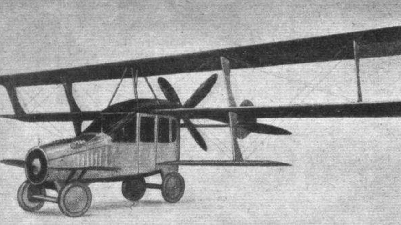 一窥人类广阔的脑洞 盘点从古至今飞行汽车设计