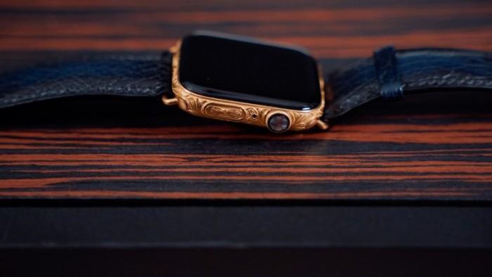 雕刻版镀金Apple Watch S4曝光:价值2200美元