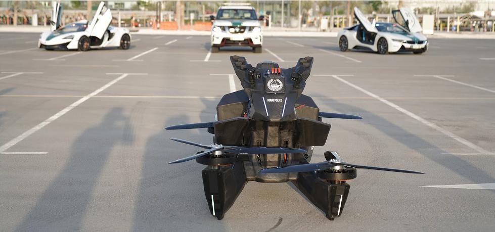 为了抓住更多罪犯,迪拜警察竟然打算标配飞行摩托