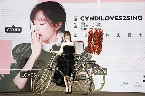 王心凌在京举办全新专辑见面会 推大碟各界力挺