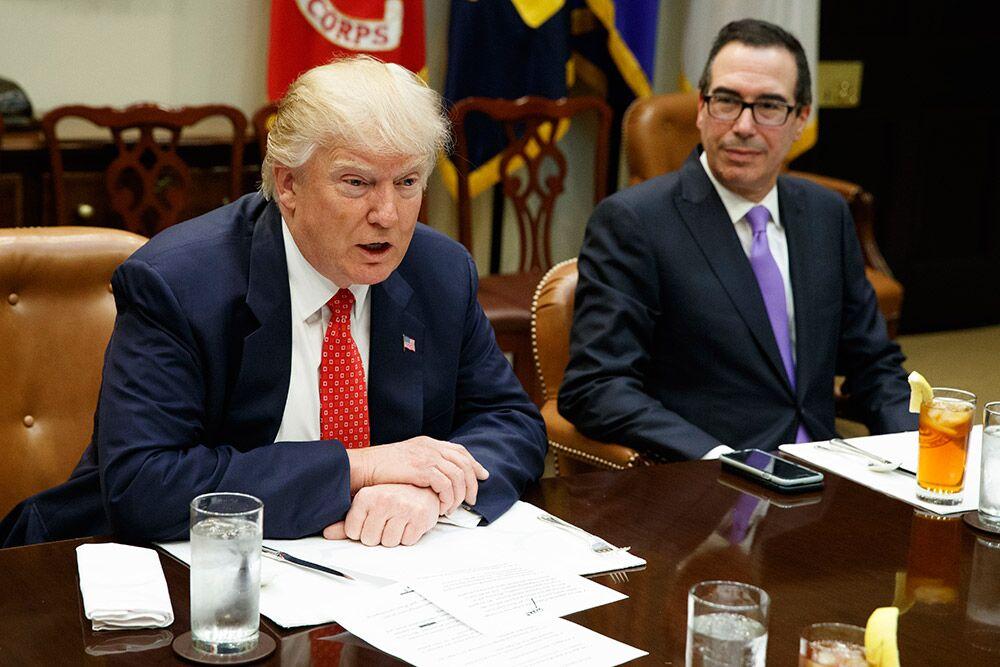 挑拨离间?美媒称总统对财政部长不满 特朗普:假新闻就喜欢反着写