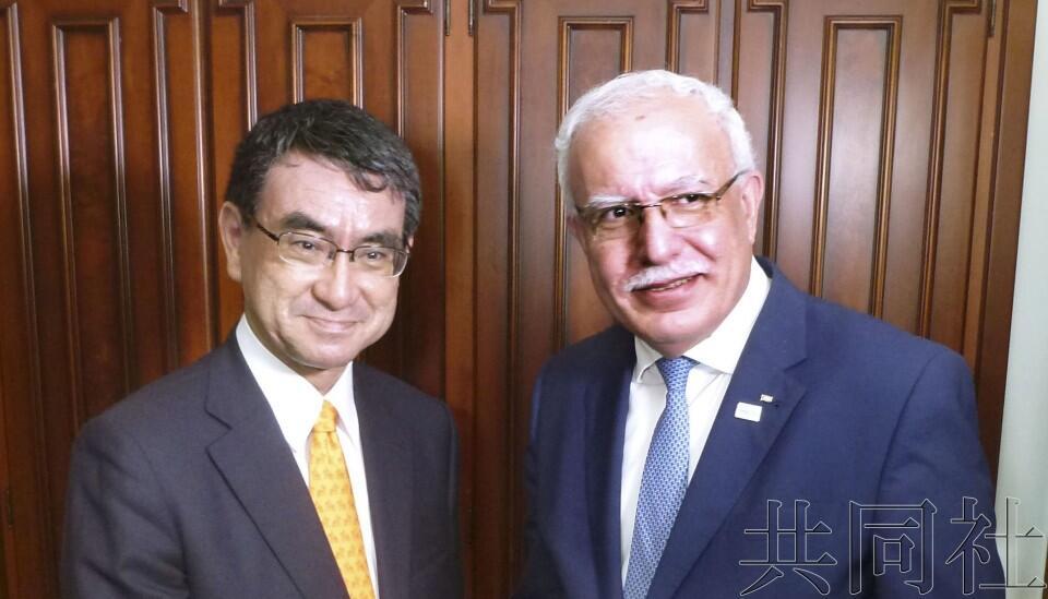 日外相承诺日本将继续提供经济援助以支持巴勒斯坦