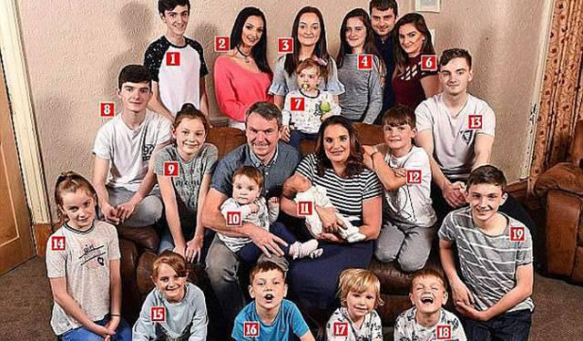 英国最大家庭迎来第21个孩子 母亲表示工作量太大