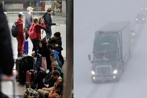 美国中西部发布暴风雪预警 芝加哥机场350架航班取消