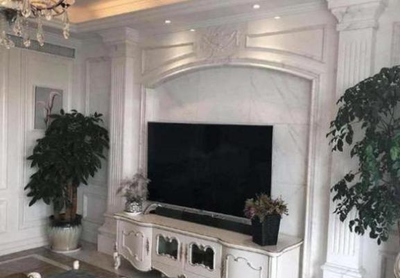沈梦辰的豪宅把整块大理石铺在电视墙上,你也可以