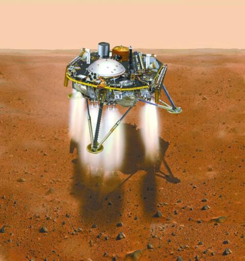 """""""洞察""""号探测器成功着陆火星 经历恐怖7分钟"""
