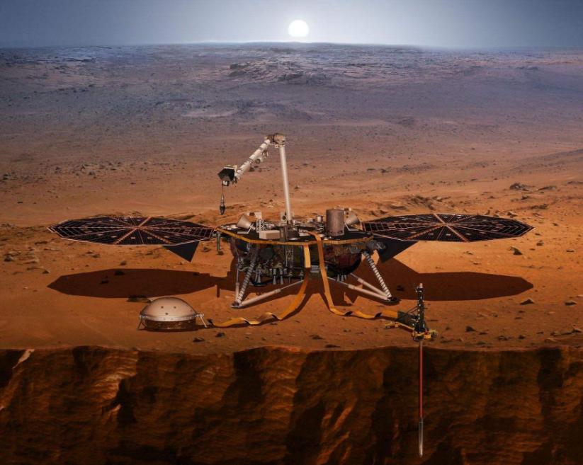 """无人探测器登陆火星 """"洞察""""红色星球的""""内心"""""""