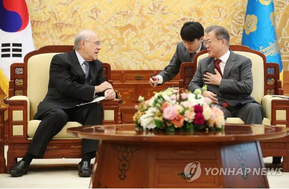韩国总统:望OECD可在对朝制裁解除后给予合作