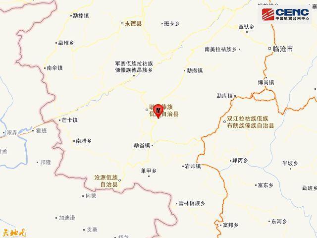 云南临沧市耿马县发生3.5级地震