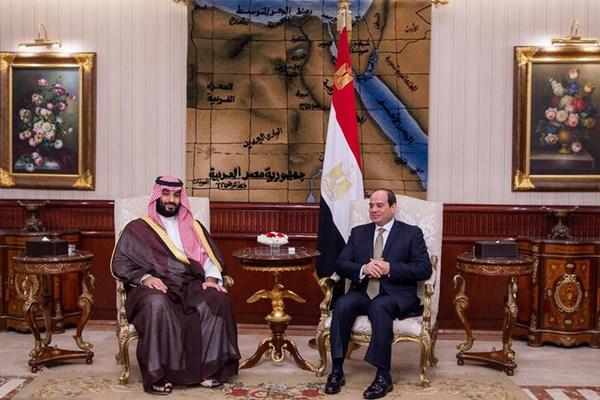 沙特王储萨勒曼访问埃及 与塞西总统举行会面