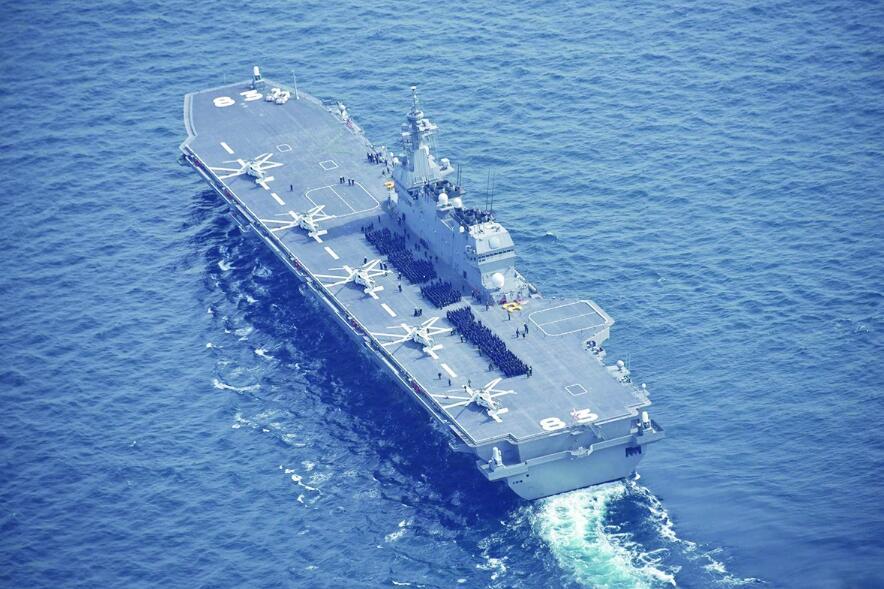 日本锲而不舍造航母 出云号被指设计时就想配F35