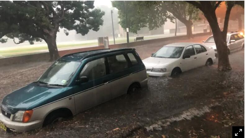 悉尼被雨淹了!